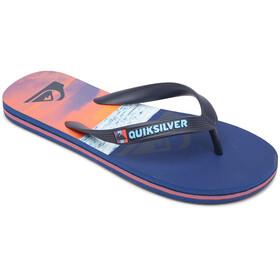 Quiksilver Molo Panel Sandals Youth, blue/blue/orange